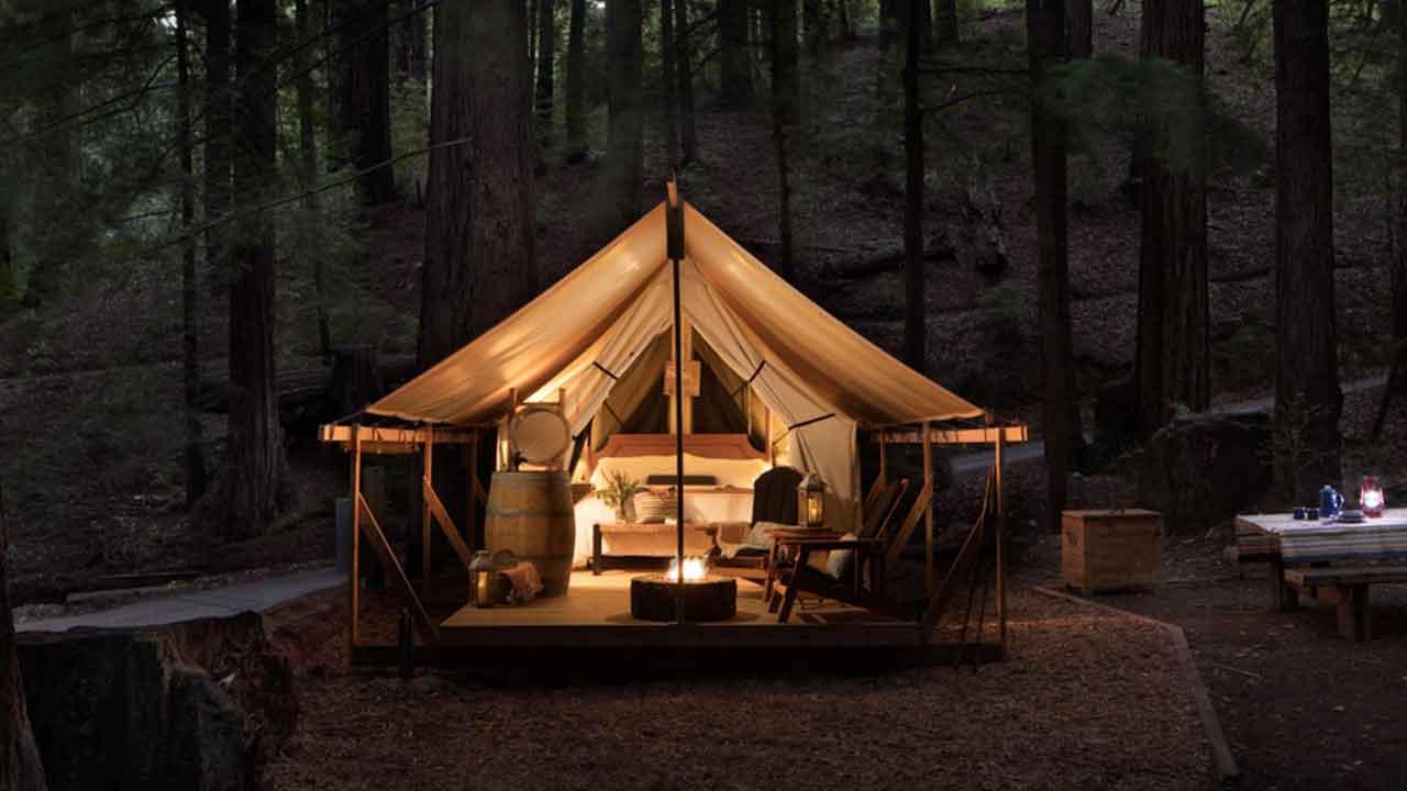 glam camping Glaping In Big Sur California