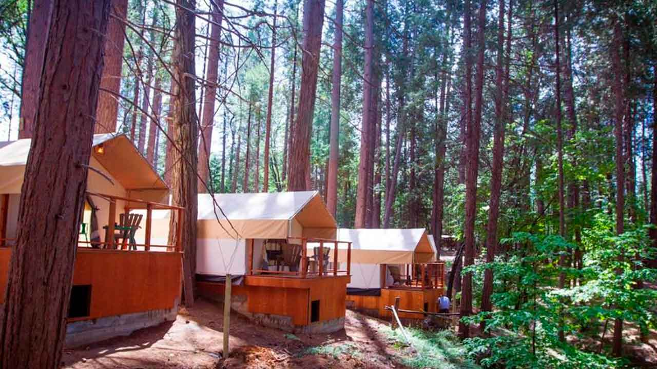 Inn Town Campground, Nevada City Camping glamping