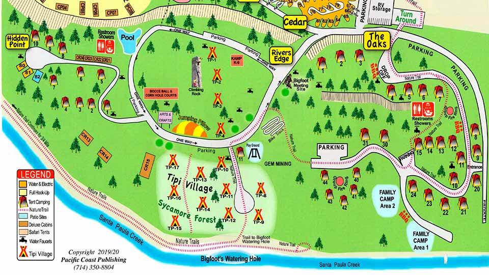 Ventura Ranch KOA map 1