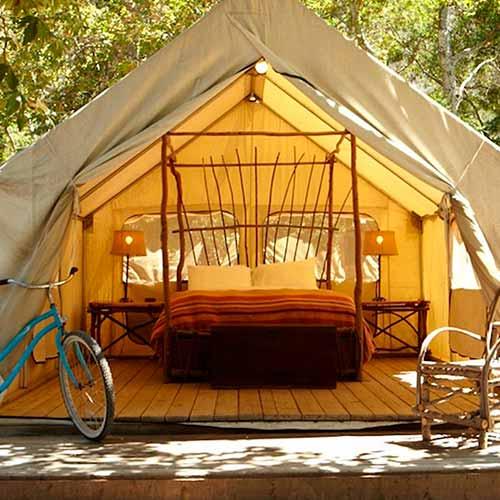glamping in safari tent california
