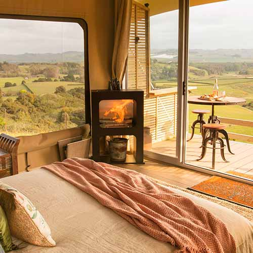 glamping in luxury cabins california