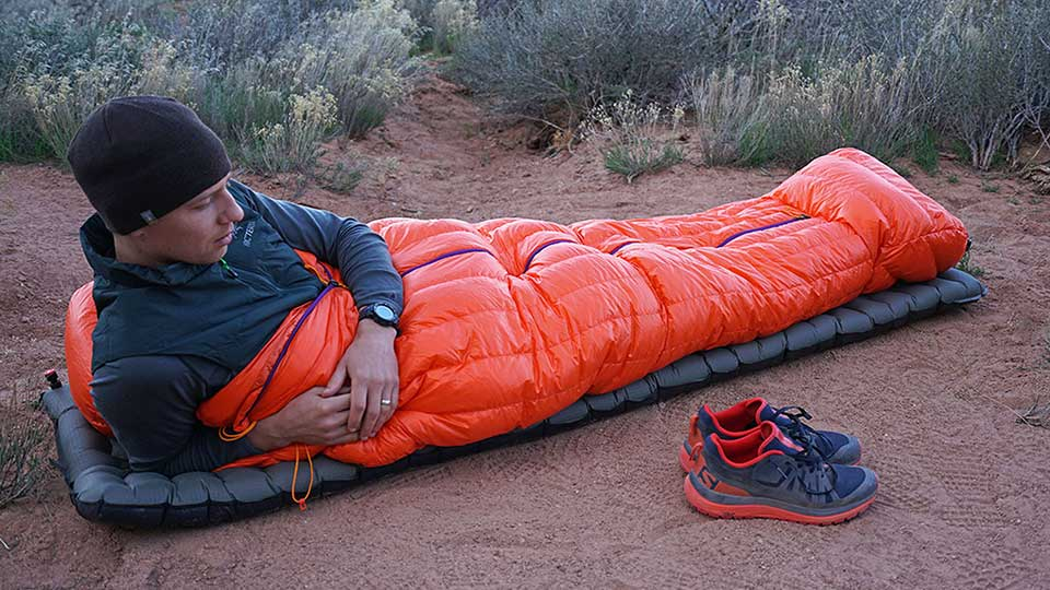 sleeping bags down